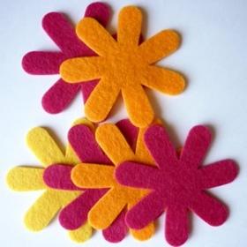 Flores de fieltro Veraniegas.