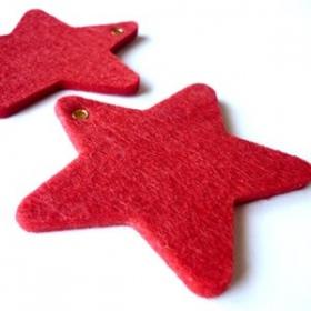 Estrella De Fieltro Roja.