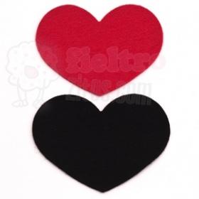 Corazones Rojo y Negro
