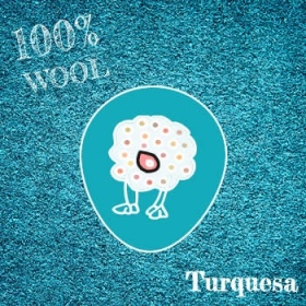 Fieltro 100% Lana Jaspe Turquesa