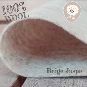 Fieltro 100% Lana Jaspe Beige