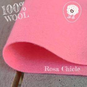 Fieltro 100% Lana Rosa Chicle