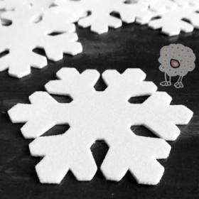 Estrella Navidad Blanca 8cm.