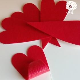 Etiqueta Fieltro Adhesivo Corazón
