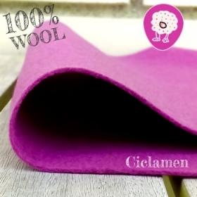 Fieltro 100% Lana Ciclamen Rosa