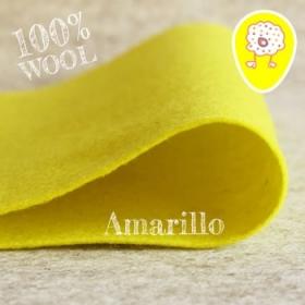 Fieltro 100% Lana Amarillo