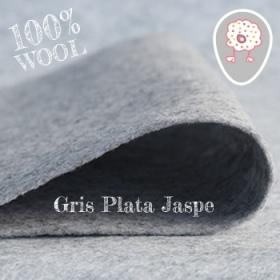 Fieltro 100% Lana Gris Plata Jaspe