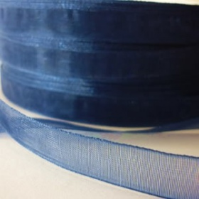 Organza Azul Noche (3 metros)