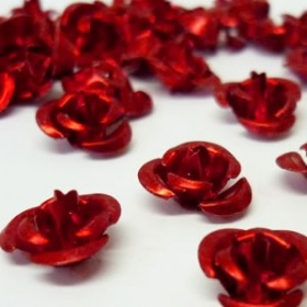 Rosas Metálicas Rojas (10Unds)