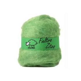 Fieltro Lana Verde Claro 10grs