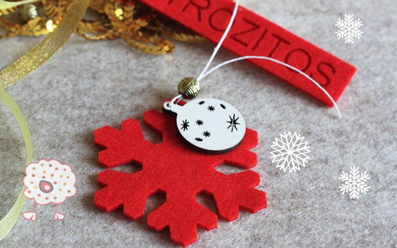 Estrella polar de Navidad. Viste tu árbol con un detalle en fieltro original