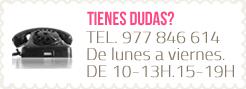 Teléfono de contacto 977 846 614