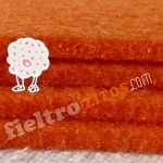 Fieltro Naranja de 3mm.