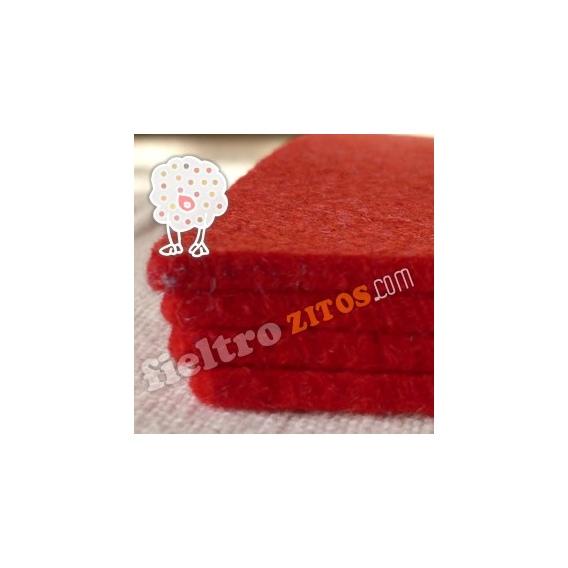 Fieltro Rojo de 3mm.
