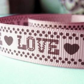 Cinta Polyester Love. (1metro)