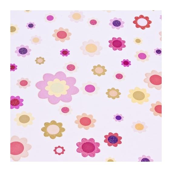 Papeles Flores Brillantina (1Und)