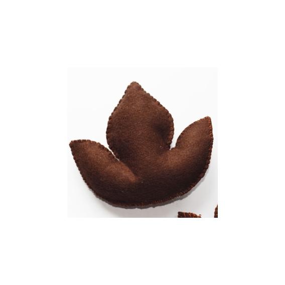 Tulipa 3D de Fieltro Chocolate
