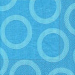Servilleta Azul Círculo