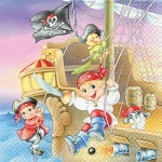 Servilleta Piratas