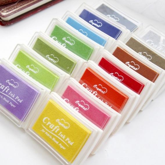 Lote 15 Tintas color para sellos - Imagen 1