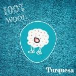 Fieltro 100% Lana Turquesa