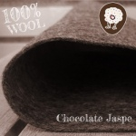 Fieltro 100% Lana Jaspe Chocolate