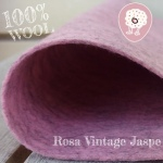 Fieltro 100% Lana Jaspe Rosa Vintage