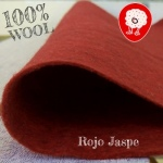 Fieltro 100% Lana Jaspe Rojo