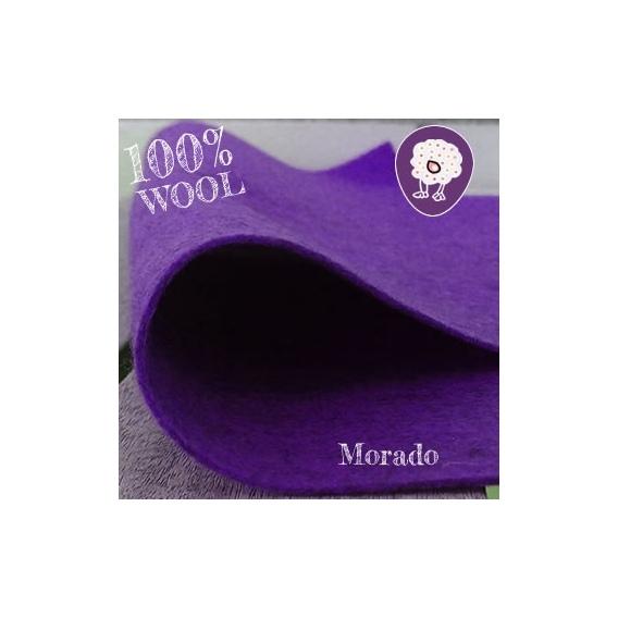 Fieltro 100% Lana Morado