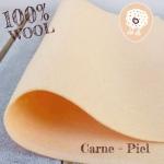 Fieltro 100% Lana Carne-Piel