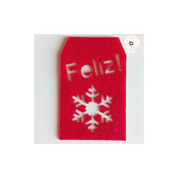 Etiqueta Adhesiva Feliz Navidad