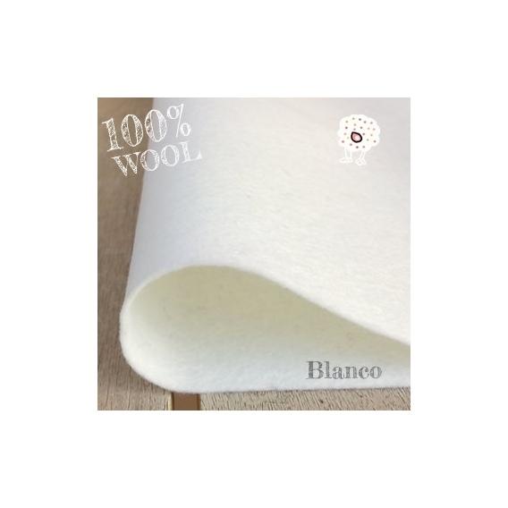 Fieltro 100% Lana Blanco
