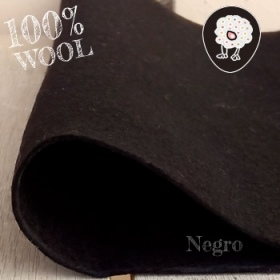 Fieltro 100% Lana Negro