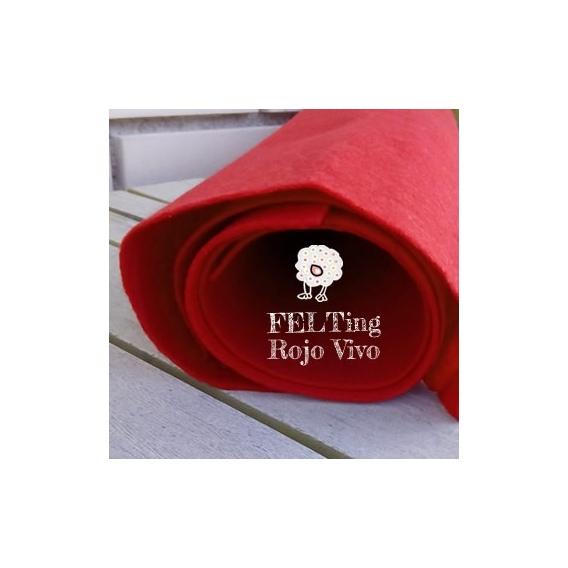 Fieltro Rojo 2mm. (50x50cm)
