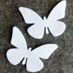 Mariposa de Fieltro Blanca