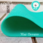 Fieltro 100% Lana Oceano Verde