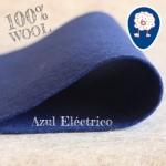 Fieltro 100% Lana Eléctrico Azul