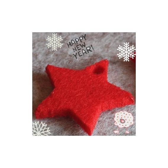 Estrella 5 Puntas Rojo Navidad