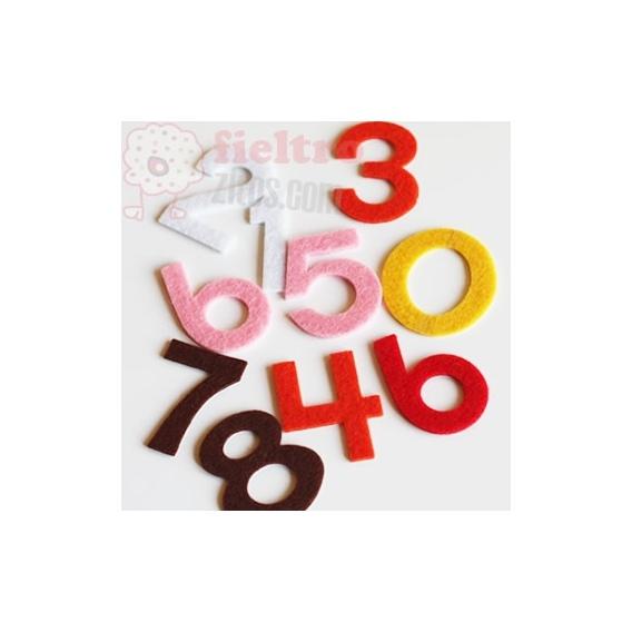 Números de Fieltro Adhesivo