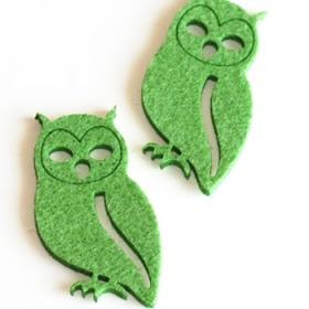 Buho de Fieltro Verde