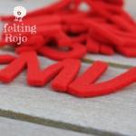 Alfabeto De Fieltro Rojo
