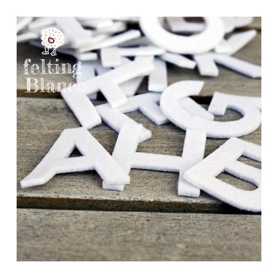 Alfabeto De Fieltro Blanco
