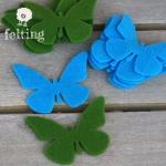 Mariposas de Fieltro VerdiBlue