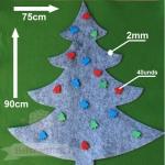 Árbol de Navidad Grande Gris