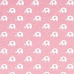 Fieltro Estampado Elefantes Rosa Bebé