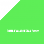Goma Eva Adhesiva Verde Fluor 2mm