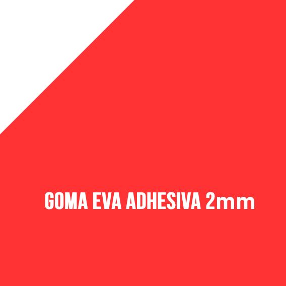 Goma Eva Adhesiva Rojo 2mm