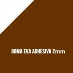 Goma Eva Adhesiva Marrón 2mm