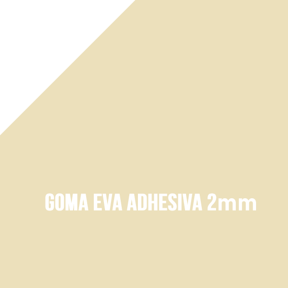 Goma Eva Adhesiva Beige 2mm
