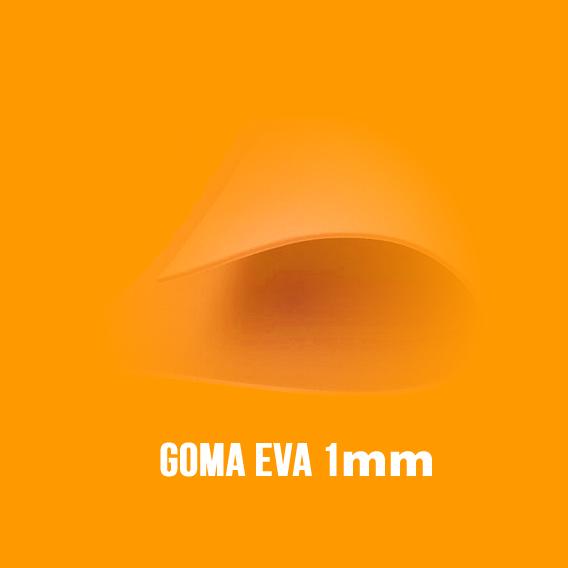 Goma Eva Naranja 1mm.